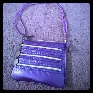 Purple and gold purse